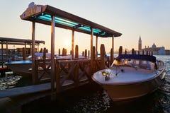 Water taxar i Venedig Royaltyfri Fotografi