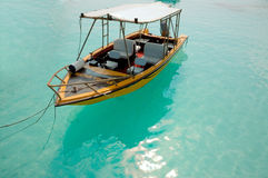Water taxi. Boat, Maldives royalty free stock photography