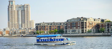 Water taxi in baltimore. Maryland royalty free stock photography