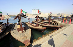 Water taxi boat in dubai Royalty Free Stock Photos