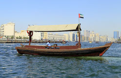 Water taxi boat in dubai Royalty Free Stock Images
