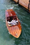 Water taxi on a canal in Venice, Italy Stock Photos