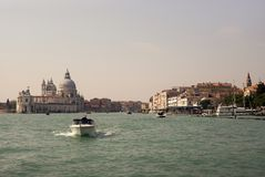 Water taxi, Venice, Italy. stock photo