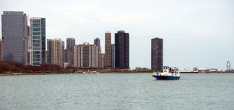 Water taxi in Chicago Royalty Free Stock Image