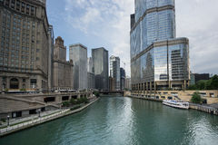 Water taxi in chicago Stock Images