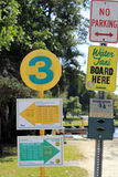 Water Taxi Entrance Signs Royalty Free Stock Photo