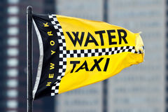Water Taxi Flag Royalty Free Stock Images