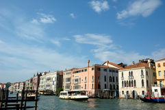 Water Taxi on the Grand Canal Venice Royalty Free Stock Images