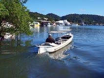 Water Taxi in Oak Ridge Roatan stock images