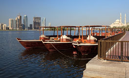 Water Taxi in Sharjah. Royalty Free Stock Photos
