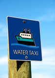 Water taxi sign Royalty Free Stock Images