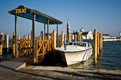Water Taxi Stand, Venice Stock Image