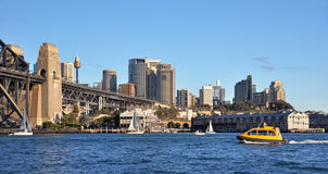 Water Taxi on Sydney Harbour, Australia stock image