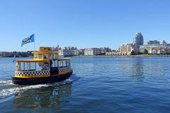 Water taxi. Victoria,Canada-June 30th,2015: water taxi in harbour of Victoria Royalty Free Stock Photography