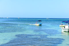 Water Taxi West End, Roatan, Honduras Royalty Free Stock Images