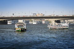 Water taxis on the River Nile Royalty Free Stock Photo