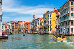 Water taxis are sailing along the Grand Canal Stock Images