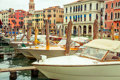 Water Taxis in Venice Royalty Free Stock Photos
