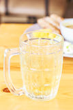 Water tea with food of popular of thailand Royalty Free Stock Photos