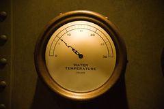 Water temperature gauge Stock Photography