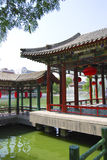 Water temple. Chinese temple in a lake in Beijing, China Royalty Free Stock Image
