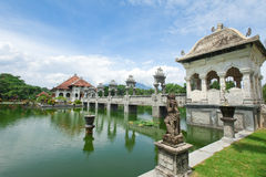 Water temple in Bali stock photography
