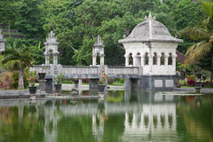 Water temple in Bali. Architectural wonders at the Karangasem water temple in Bali, Indonesia Royalty Free Stock Photography
