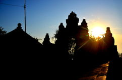 The Water Temple, Bali. As the sun sets, the view is mesmerising Royalty Free Stock Photos