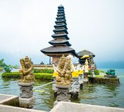 Water temple at Bratan lake Royalty Free Stock Photo