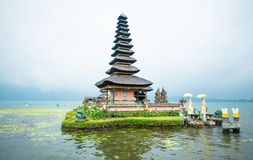 Water temple at Bratan lake Royalty Free Stock Images