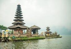 Water temple at Bratan lake Stock Images