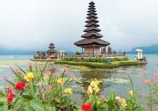 Water temple at Bratan lake Royalty Free Stock Image