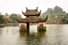 Water temple at Hanoi, Vietnam royalty free stock photography