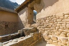 Water temple Ollataytambo archeological site Peru royalty free stock photo