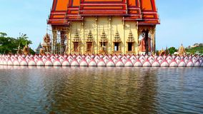 Water temple with reflection at Koh Samui, Royalty Free Stock Photo