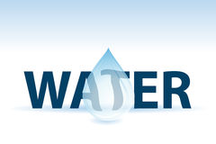 Water text and drop Royalty Free Stock Photo