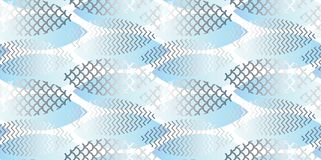 Water texture abstract geometric seamless pattern. Stock Photography