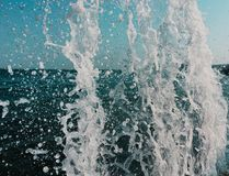Water texture background. Splash drops royalty free stock photography