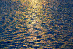 Water texture. Blue water texture with warm sunset light Royalty Free Stock Photo