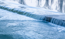 Water texture river. Little waterfalls. Water texture river close up detail. Little waterfalls stock images