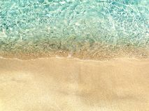 Water texture sand beach summer holiday background Stock Photos