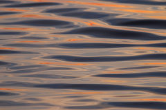 Water texture steel sunset orange Royalty Free Stock Photography
