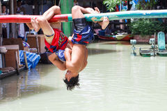 Water Thai boxing (or Muay Talay) Royalty Free Stock Image