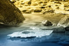 Water with thin ice Royalty Free Stock Photography