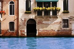 Water on threshold of house Royalty Free Stock Photography