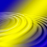 Water time. Water ripple on yellow and purple background Royalty Free Stock Image