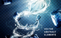 Water torrent elements Stock Images