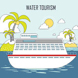 Water tourism concept Stock Image