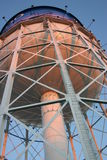 Water Tower. This is an up view of the Detroit Zoo water tower viewing its undercarriage and construction Royalty Free Stock Photos