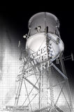 Water Tower. Supporting structure and sketch plan background royalty free stock photo